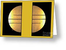 Golden Sun Diptych Greeting Card by Cheryl Young