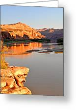 Golden Sunset On The Colorado Greeting Card by Marty Koch