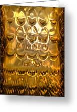 Goldpanel 02 Greeting Card by Li   van Saathoff