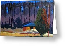 Golf Course Shed Series No.2 Greeting Card by Charlie Spear