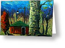 Golf Shed Series No 17 Greeting Card by Charlie Spear
