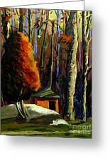 Golf  Shed Series No16 Greeting Card by Charlie Spear