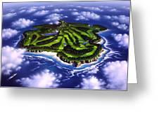 Golfer's Paradise Greeting Card by Jerry LoFaro