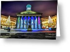 Goma Glasgow Lit Up Greeting Card by John Farnan