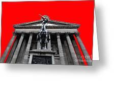 Goma Pop Art Red Greeting Card by John Farnan