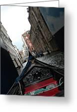 Gondola Greeting Card by Teresa Tilley