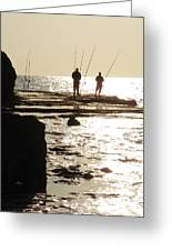 Gone Fishing Greeting Card by Noreen HaCohen