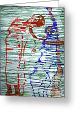 Good Friday - Jesus Meets His Mother On Calvary Greeting Card by Gloria Ssali