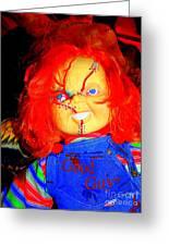 Good Guy Chuckie Greeting Card by Ed Weidman