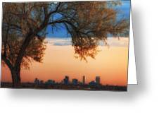 Good Morning Denver Greeting Card by Darren  White