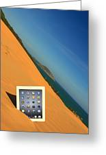 Goodbye Ipad Greeting Card by Suradej Chuephanich