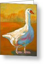 Goose A Farm Animal Greeting Card by Patricia Awapara