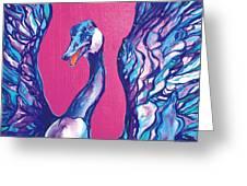 Goose Greeting Card by Derrick Higgins