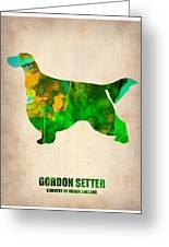 Gordon Setter Poster 2 Greeting Card by Naxart Studio