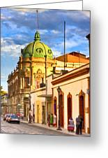 Gorgeous Streets Of Oaxaca Mexico Greeting Card by Mark Tisdale