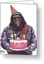 Gorilla Party Greeting Card by Mark Tavares