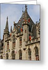 Gothic Bruges Greeting Card by Carol Groenen