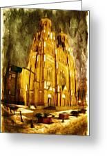 Gothic Cathedral Greeting Card by Jaroslaw Grudzinski