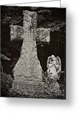Gothic Cross Greeting Card by Chalet Roome-Rigdon
