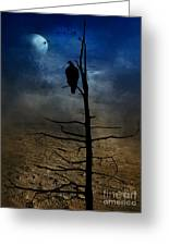 Gothic Landscape Greeting Card by Andrea Kollo