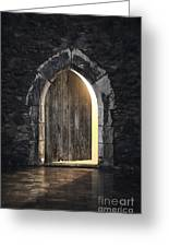 Gothic Light Greeting Card by Carlos Caetano