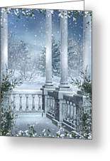 Gothic Winter Greeting Card by Boon Mee