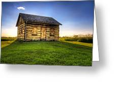 Gotten Log Cabin Greeting Card by Scott Norris