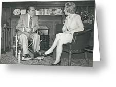 Governor George Wallace Meets Mrs Margeret Thatcher At The Greeting Card by Retro Images Archive