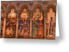 Grace Cathedral Mural Greeting Card by David Bearden