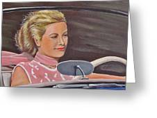 Grace Kelly - To Catch A Thief Greeting Card by Kevin Hughes