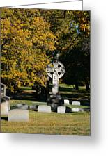 Graceland Cemetery Chicago - Tomb Of John W Root Greeting Card by Christine Till