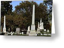 Graceland Chicago - The Cemetery of Architects Greeting Card by Christine Till