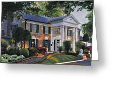 Graceland Home Of Elvis Greeting Card by Cecilia Brendel