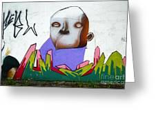 Graffiti Art Curitiba Brazil 17 Greeting Card by Bob Christopher
