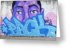 Graffiti Art Santa Catarina Island Brazil Greeting Card by Bob Christopher