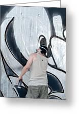Graffiti Artist Greeting Card by Frank Gaertner