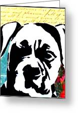 Graffiti Boxer Greeting Card by Ashley Reign