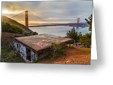 Graffiti By The Golden Gate Bridge Greeting Card by Sarit Sotangkur