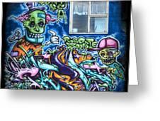 Graffiti City Greeting Card by Evelina Kremsdorf
