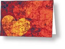 Graffiti Hearts Greeting Card by The Art of Marsha Charlebois