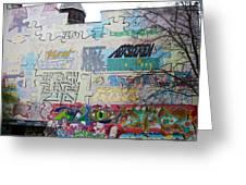 Graffiti Local Neighborhood Amsterdam Netherlands Greeting Card by Robert Ford