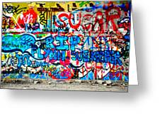 Graffiti Street Greeting Card by Bill Cannon