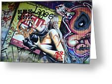 Grafitti Art Florianopolis Brazil 1 Greeting Card by Bob Christopher