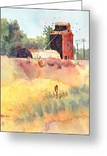 Grain Elevator Greeting Card by Kris Parins