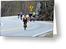 Gran Fondo Bike Ride Greeting Card by Susan Leggett