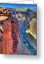 Grand Canyon Awe Inspiring Greeting Card by Bob Christopher