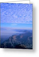 Grand Canyon Blues Greeting Card by Alex Cassels