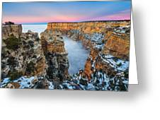 Grand Canyon In The Clouds Greeting Card by Adam  Schallau