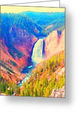 Grand Canyon Of The Yellowstone Greeting Card by Ann Johndro-Collins