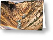 Grand Canyon of Yellowstone 1 Greeting Card by Thomas Woolworth